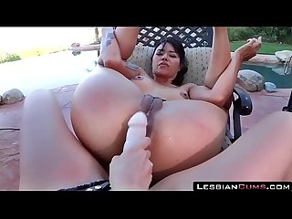 Mom and daughter strapon fucking outdoors lesbiancums com