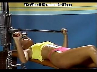 Candie Evans, Francois Papillon in sex in the sport club from xxx classic porn