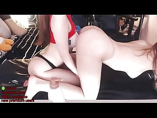 Korean lesbian camgirls oil play live at livekojas com