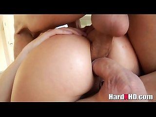 Slutty Lana Rhoades double penetration and double anal
