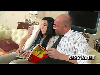Sexy bed fucking lesson