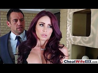 Real slut wife monique alexander like cheating in hard style sex tape video 21