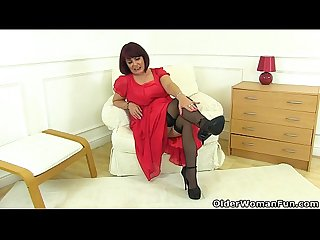 British milf christina x slides her fingers in