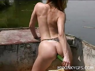 Amateur Woman At the Boat