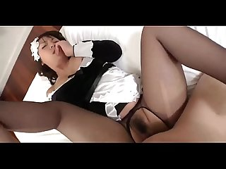 Japanese pantyhose maid sex nylon fuck
