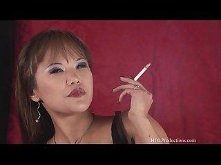 Mia smiles smoking fetish at dragginladies