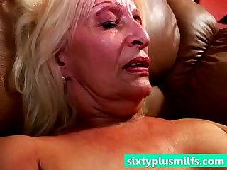 Hot grandmother cumming