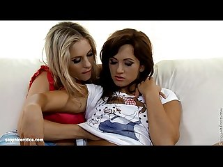 Couch climaxes by sapphic erotica lesbian sex with jess tess