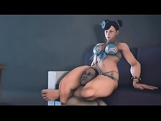 Chun li and juri having some sensual brutal femdom fun !