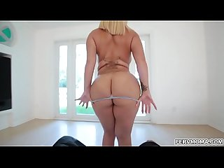 Blonde Milf hottie nina kayy birthday Sex for stepson