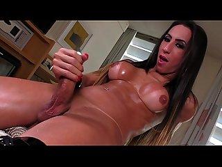 T-girl Sabrina Camargo solo
