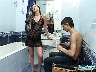Bathroom sex hot russian teen natasha