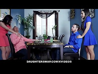 Daughterswap two teen daughters swap and fuck their dads