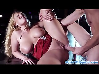 Busty squirting blonde stripper pussyfucked