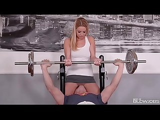 Best of blowjobs comes with Nikky Dream sucking big dick deep throat at gym
