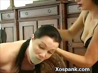 Bondage woman spanked explicitly