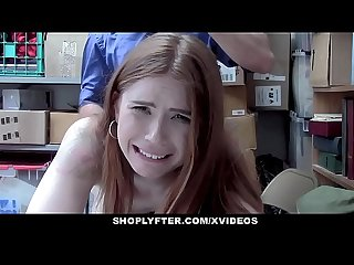 ShopLyfter - Redhead Teen Caught Stealing Persuades Officer With Sex