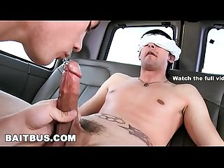Bait Bus rock and roll straight bait with pierced cock gets his dick sucked by a gay