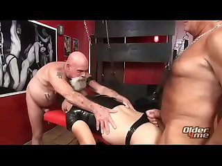 Gay two daddy sucking young boy