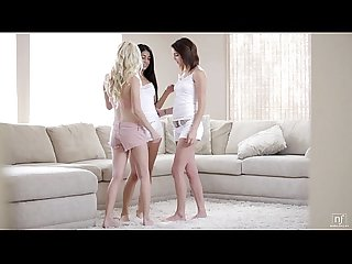 Nubile films Ass licking Lesbians in tongue fucking Threesome