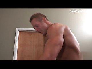 Horny guys swallows cum