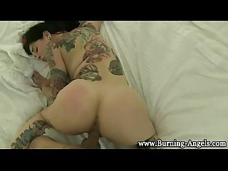 Tattood emo fuck and cumshot