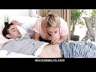 Naughty Stepmom Ryan Keely Shares Stepson Cock With His Girlfriend