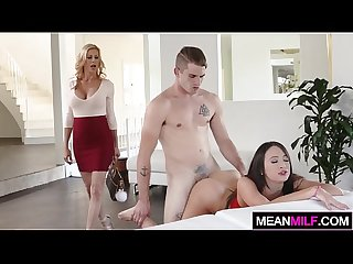 Nubile alluring mother likes to teach them thing