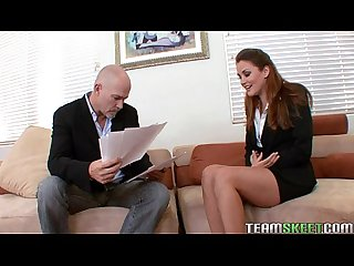 Lovely brunette allie haze fucks her job interviewer