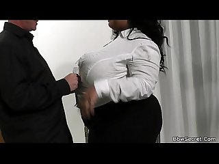Mega busty ebony bbw cheating