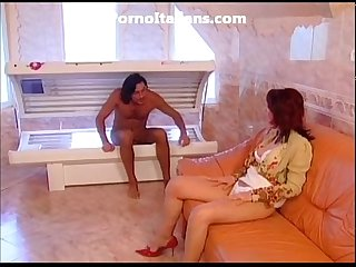 Mother slut comes with huge dick madre troia gode con cazzo enorme