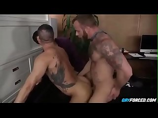 Dirty Threesome Anal Drilling in Office