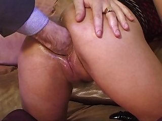 Extreme slut wide pussy stretched with multi toys