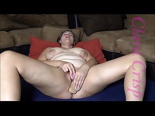 Chubby Brunette Fingering, Using Vibrator and Dildo To Cum Hard