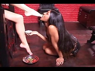 HeadMistress Sade VS Goddess Maya - Femsub Foot-Worship