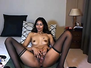 Indian milf spread wide masturbating