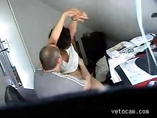 Video from hidden cam mature fucked hard at office table