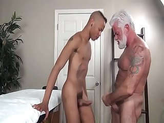 daddy massage sex for boy