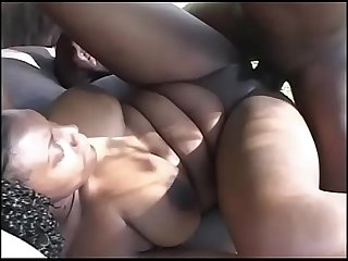 African porn with a stunning girl fucked legs in the air