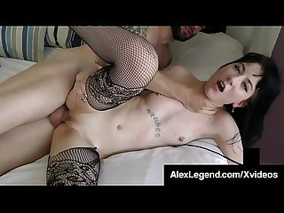 Flat Chested Brunette Charlotte Sartre Fucked By Alex Legend