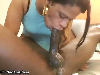 Getting sloppy toppy from My homie s mom best blowjob ever