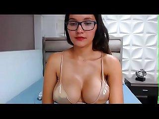 Teen brunette latina Bigboobs masturbate