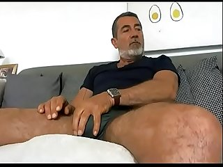 Huge bulge hairy daddy