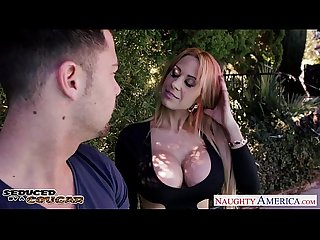 Kinky cougar Alyssa lynn suck cock outdoors