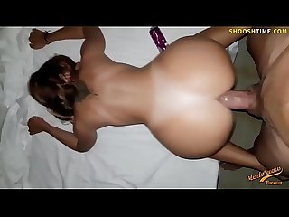Girlfriend grinds Boyfriends cock to orgasm anal real