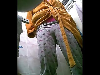 My sister in law in the toilet 5