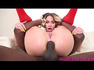 Khloe Kapri in her first interracial anal taking bbc roughly