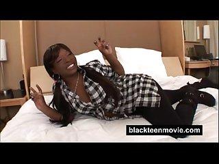 Black teen cutie with a big ass