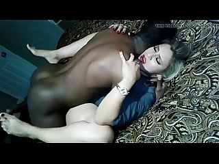 Hot blonde wife fucked by BBC and gets her pussy creamed