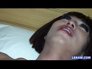 Ladyboy kon fucks guy and gets fucked bareback